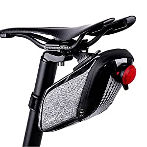 Bicycle Bag Waterproof Bike Saddle Bag Bicycle Seat Bag Strap-on Bike Cycling Bag (Taillight Not Include)