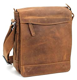 Vagabond Traveler 10'' Cowhide Leather Satchel Bag L72 Vintage Brown
