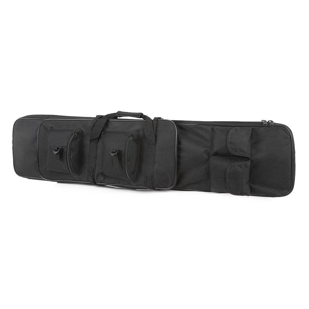 Festnight 95cm / 120cm Outdoor Hunting Gun Carry Bag Gear Protection Case with Adjustable Shoulder Strap, Black