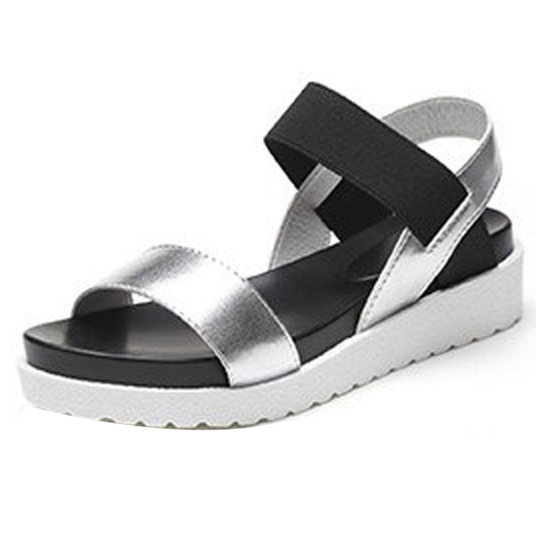 Binggong Sandales D'été 2018 Femmes Chaussures Peep-Toe Basses Chaussures Sandales Romaines Dames Tongs Ballerine Escarpin Chaussures Sport Sandales