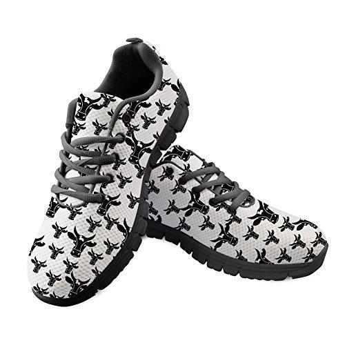 ThiKin スポーツシューズ メンズ 3D プリント 動物柄 おしゃれ ランニングシューズ ブラック ウォーキング カジュアル シューズ カジュアル デイリー 靴 ファッション 通勤 通学 プレゼント レディース