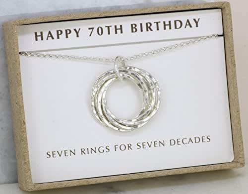 Amazon Com 70th Birthday Gift For Mom Necklace 70 Year Old Gifts Ideas