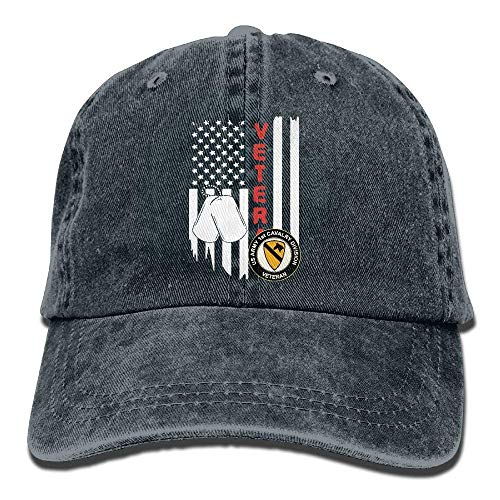 US Flag Army Veteran 1st Cavalry Division Unisex Baseball Cap Cowboy Hat Dad Hats Trucker Hat 00C992