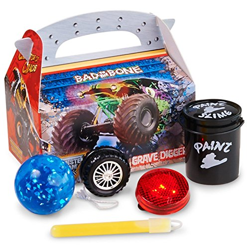 Monster Jam 3D Party Supplies - Filled Favor Boxes (4)