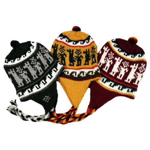 Super Soft Chullo Hat Ski Beanie Heavy Knit Alpaca Blend Peru Mixed Assorted Color Luxury Hand Knit Super Quality -