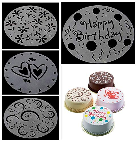 Cake Decorating Stencil With New Design 2019, 4pcs/set Cake Decorating Craft Stencil - Stencil Cake Decoration, Cake Stencils, Stencils For Cakes, Cake Decorating Stencils, Stencil Cake Design