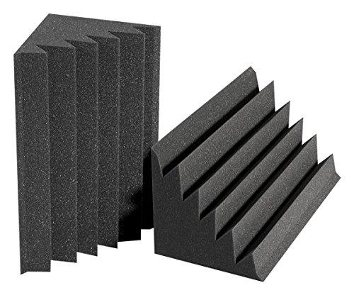 """Auralex Acoustics 12"""" x 12"""" x 24"""" DST LENRD Sound Control - Studiofoam Bass Traps, Charcoal - 2 Pack"""
