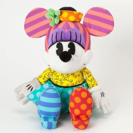 Romero Britto Disney Retro Minnie Mouse Pop Art Stuffed Animal Plush