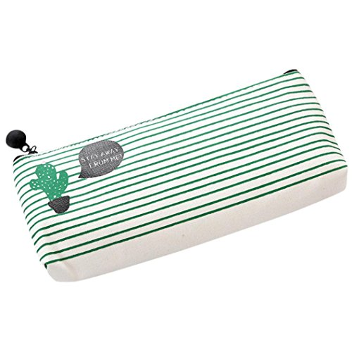 (LtrottedJ Travel Makeup Cosmetic Cactus Case Wash Organizer Storage Cartoon Pencil Case (A))