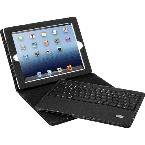 Aluratek Universal Bluetooth Folio Case with Removable Keyboard for iPad 1/2/3 (ABTK01F)
