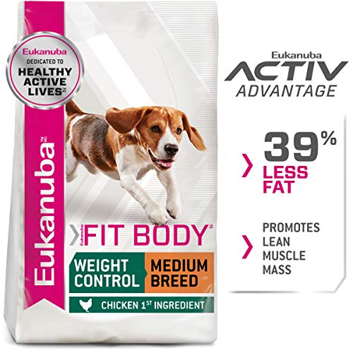 Eukanuba Fit Body Weight Control Medium Breed Dry Dog Food, 15 Pounds