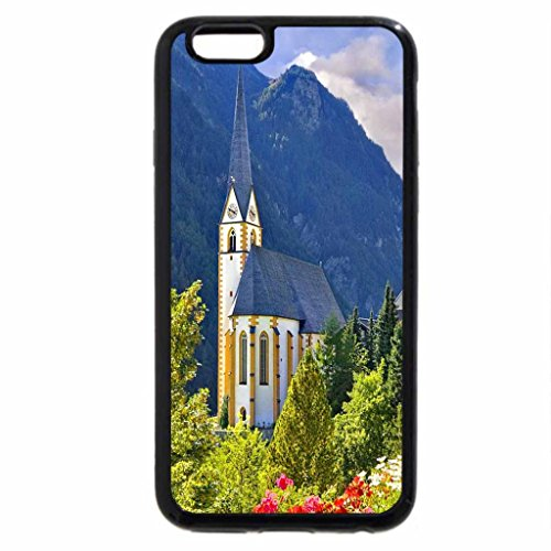 iPhone 6S / iPhone 6 Case (Black) Mountain tower