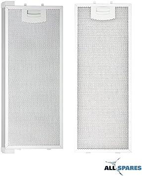 AllSpares Juego Combinado de filtros de Grasa de Metal para Siemens/Bosch 352812/00352812 (445 x 175 mm) / 352813/00352813 (420 x 175 mm) para li23030