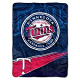 MLB Minnesota Twins Raschel Plush Throw Blanket, Speed Design