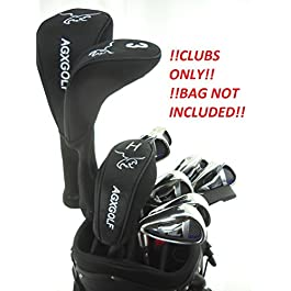 AGXGOLF Men's Left Hand Magnum Complete Golf Club Set w/Oversize Driver, 3 Wood, 3 Hybrid + Callaway Style 5-9 Irons + PW & SW, Free Putter: Cadet Regular or Tall Length: Built in The USA!