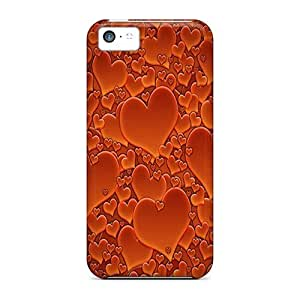 For Iphone 5c Tpu Phone Case Cover(red Heart)