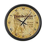 Cheap CafePress – Tombstone Arizona – Large 17″ Round Wall Clock, Unique Decorative Clock