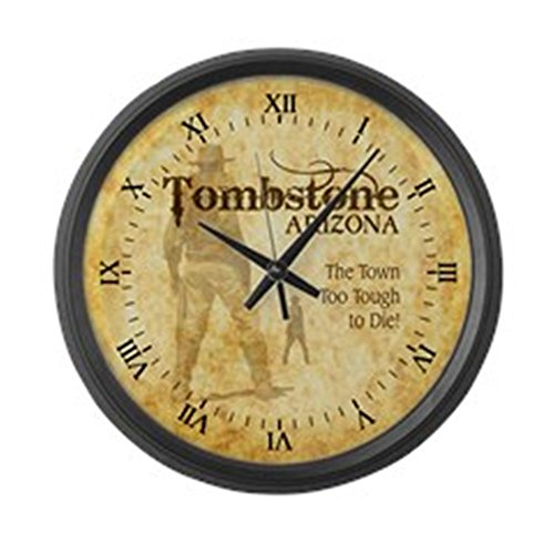 CafePress Tombstone Arizona Large 17 Round Wall Clock, Unique Decorative Clock