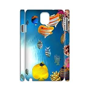 Samsung galaxy note 3 N9000 Flexible fish 3D Art Print Design Phone Back Case Custom Hard Shell Protection FG020701