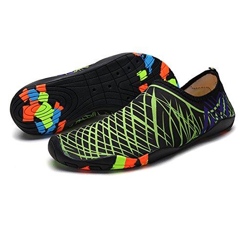 Men's Socks Shoes APTRO Beach Swimming Water Women's s2 Cruise Barefoot Lightweight Green Aqua and Kayaking Athletic TwOqxHw