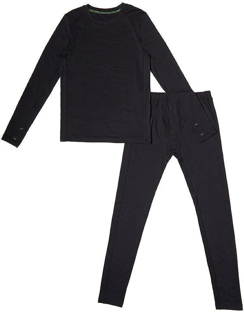 Cuddl Duds Climatesmart Boys Warm Baselayer Top & Bottoms 2 Piece Thermal Set Long Sleeve Shirt and Pants