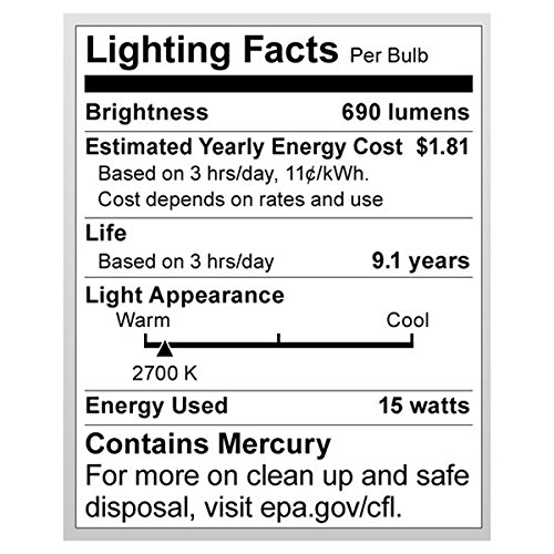 Satco 15R30/27/GU24 Compact Fluorescent Reflector, 15W GU24 R30, Bulb [Pack of 12] by Satco (Image #1)