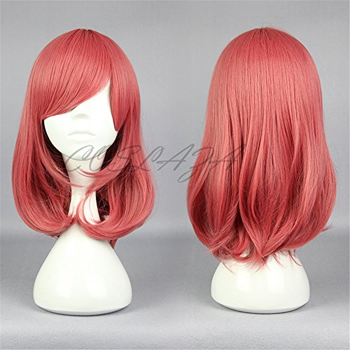 COSPLAZA Cosplay Wigs Halloween Party Hair Synthetic Wig Heat Resistant Watermelon Pinky by COSPLAZA (Image #4)