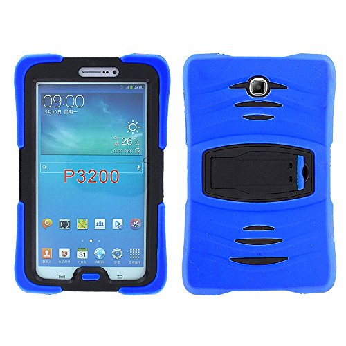 Samsung Galaxy Tab 3 7.0 Case by KIQ TM Full-body Shock Proof Hybrid Heavy Duty Armor Protective Case for Samsung Galaxy Tab 3 7.0 P3200 with Kickstand and Screen Protector (Armor Blue)
