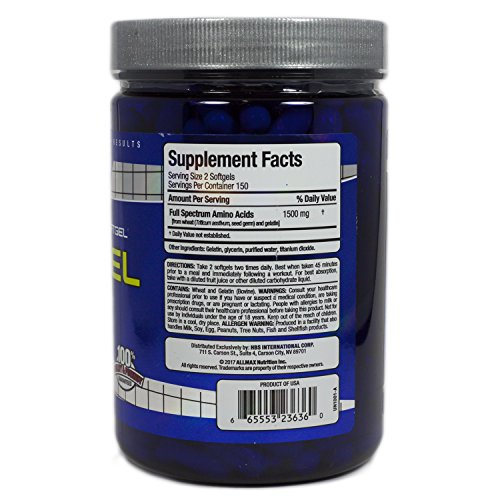 Allmax BCAA AminoGel 300 Softgels capsules by ALLMAX NUTRITION (Image #1)