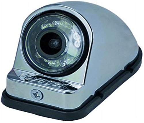 Voyager VCMS50RCM Color CMOS IR LED Camera, Chrome Housing, For the vehicle's right side, Machined Aluminum housing, Compact size, IR low light assist, CMOS technology, Corrosion resistant ASTM B117