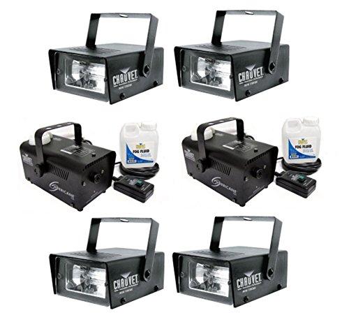 NEW (4) CHAUVET CH-730 35 Watt Mini Strobe Light Effects + (2) H700 Fog Machines by CHAUVET DJ