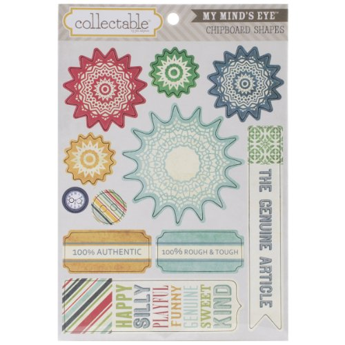 My Mind's Eye Collectable Remarkable Chipboard Shapes-Authentic