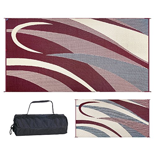 Stylish Camping GB5 Burgundy/Black 8' x 16' Graphic Mat