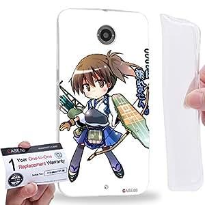 Case88 [Motorola Nexus 6] Gel TPU Carcasa/Funda & Tarjeta de garantía - Kantai Collection Kancolle aircraft carrier Kaga 0708