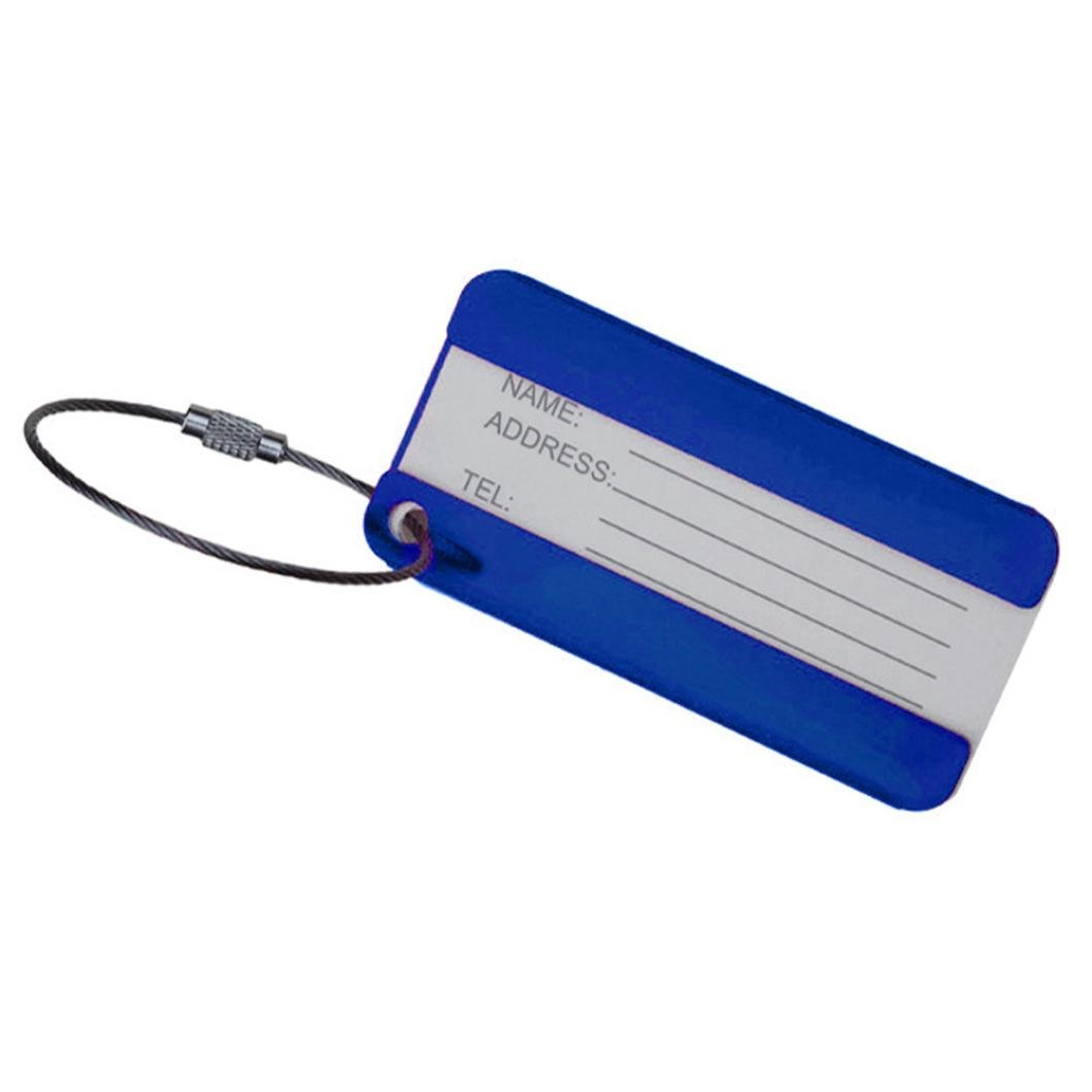 Outtop Durable Personalized Cute Luggage Bag Tags 8 x 4cm (Blue) by OutTop (Image #1)