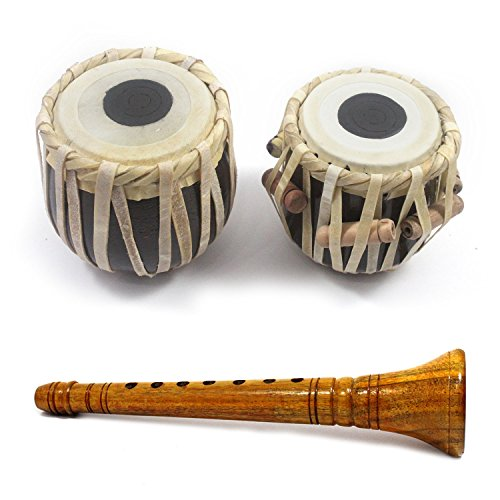 Handmade Crafted Upto 5 Years Kids Playing Musical Wooden Shehnai & Tabla Set Showpieces Premium Christmas Gift or Multi Occasional Gift