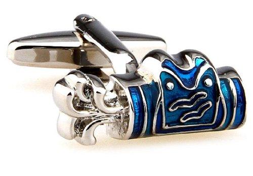 MRCUFF Golf Bag Blue Pair Cufflinks in a Presentation Gift Box & Polishing Cloth