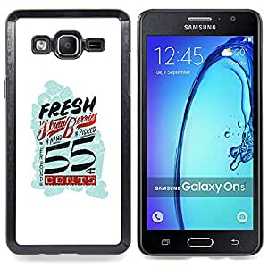 - Fresh Vintage Retro White Blue Cents - - Snap-On Rugged Hard Cover Case Funny HouseFOR Samsung Galaxy On5 SM-G550FY G550
