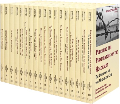 The Holocaust: Selected Documents In Eighteen Volumes
