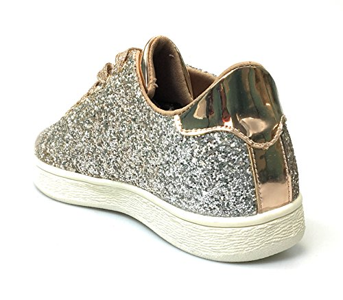 Voor Altijd Damesmode Glitter Fashion Sneakers (11, Rose Glitter-1)