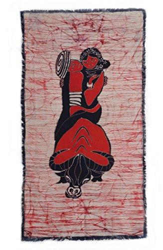 Chinese Batik (Chinoiseriehouse Love Road Chinese Folk Art Handmade Batik Romance Painting Wall Decor)