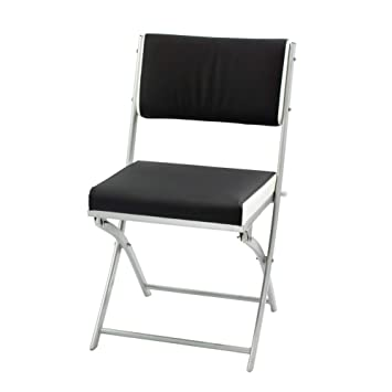 Groovy Folding Chair Indoor Black Leather Padded Folding Chair Dining Desk Chair With Metal Frame Foldable Chairs Camping Living Room Dining Pabps2019 Chair Design Images Pabps2019Com