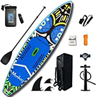 FEATH-R-LITE Inflatable 11'x33''x6'' Stand Up Paddle Board Ultra-Light (21.6lbs) SUP with Accessories Adj Paddle, ISUP…