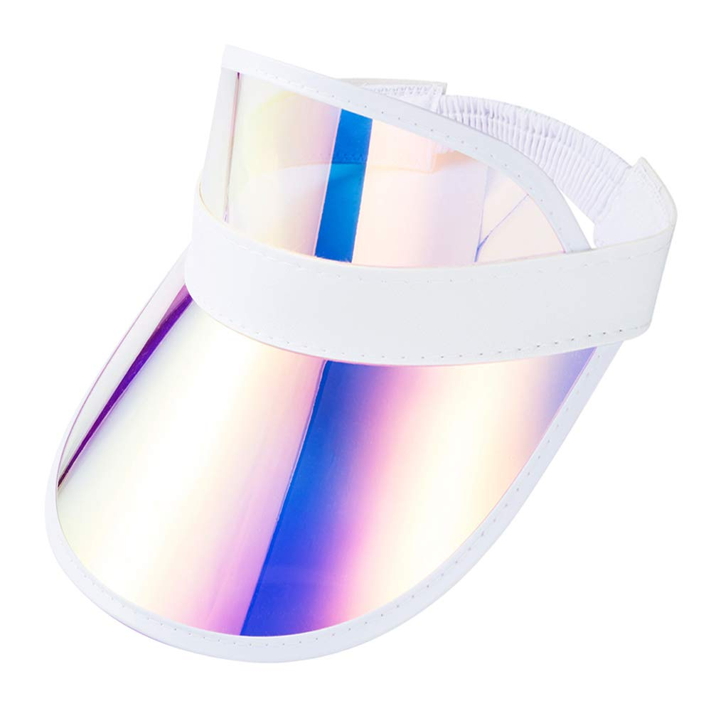 Sun Visor Hat Cap Outdoor Sport UV Protection Colored Reflective Women Men Kids