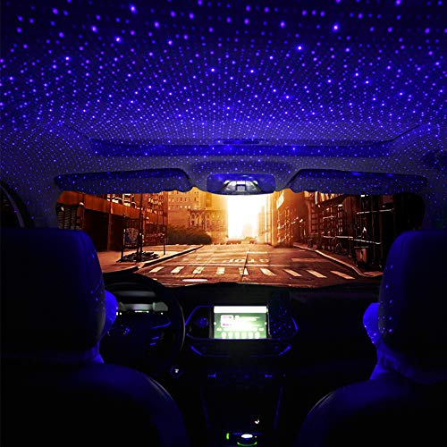 Car Star Light USB, Romantic Auto Roof Star Lights, Adjustable Angle and Star Density with No Need to Install Car Roof Lights Romantic USB Lights
