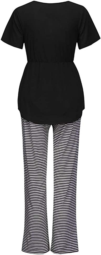 Conjunto de Pijama Mujer Embarazada LANSKIRT Ropa de Mujeres ...