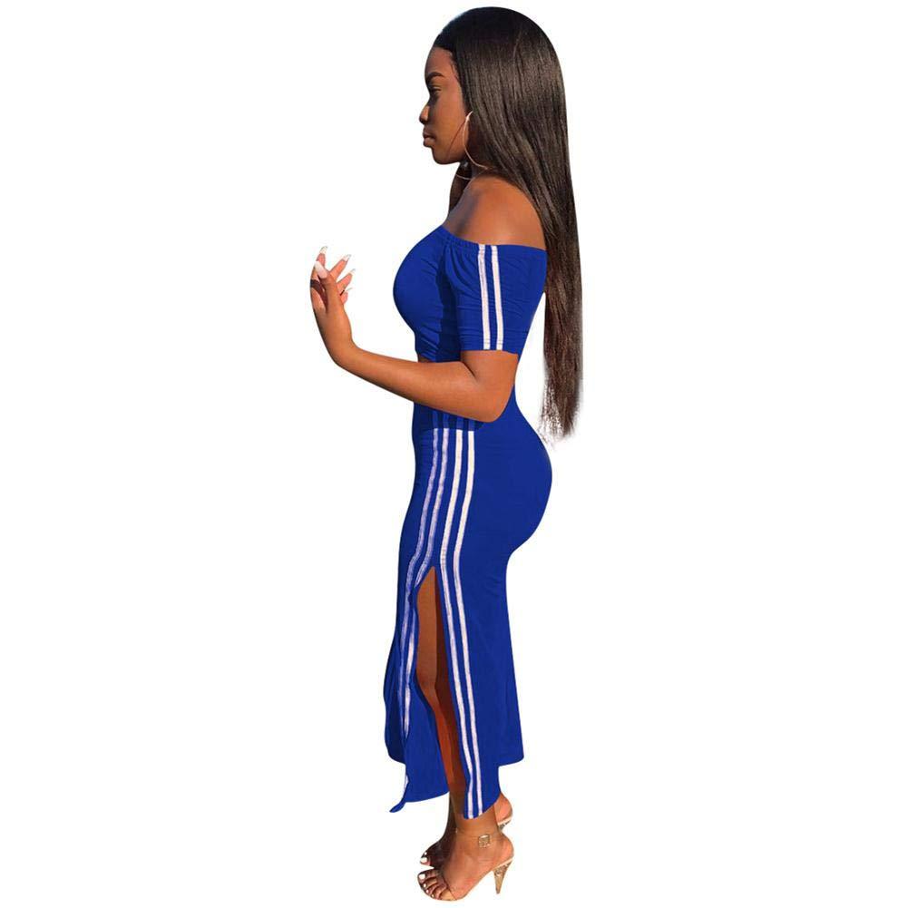 2 Pieces Sportwear Set for Women Long Sleeve Crop Tops+Color Stripe Skinny Pants Tracksuit Set