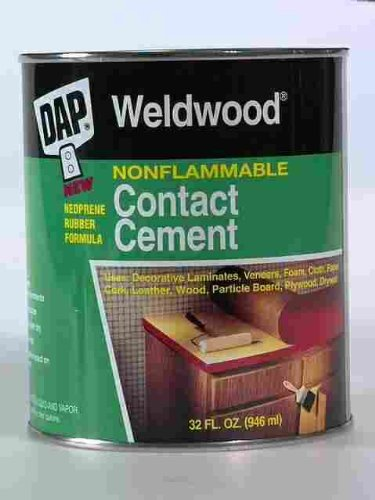 Dap 25332 1 Quart Weldwood® Nonflammable Contact Cement (Multi Purpose Weldwood Floor)
