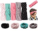 Mookiraer® Baby Girl Newest Round Dot Turban Headband Head Wrap Knotted Hair Band (5 Pack) (min01) offers