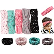 Mookiraer Baby Girl Newest Round Dot Turban Headband Head Wrap Knotted Hair Band (ZY05)